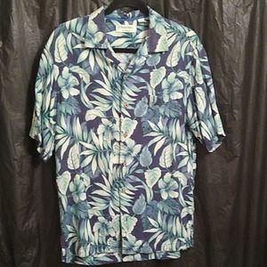 Carribean Silk blend floral Hawaiian shirt M